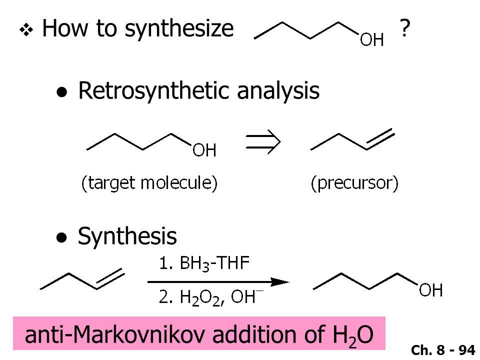 anti-Markovnikov addition of H2O