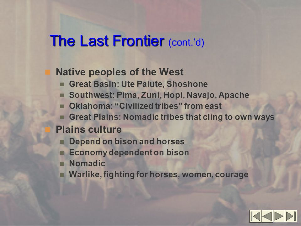 The Last Frontier (cont.'d)
