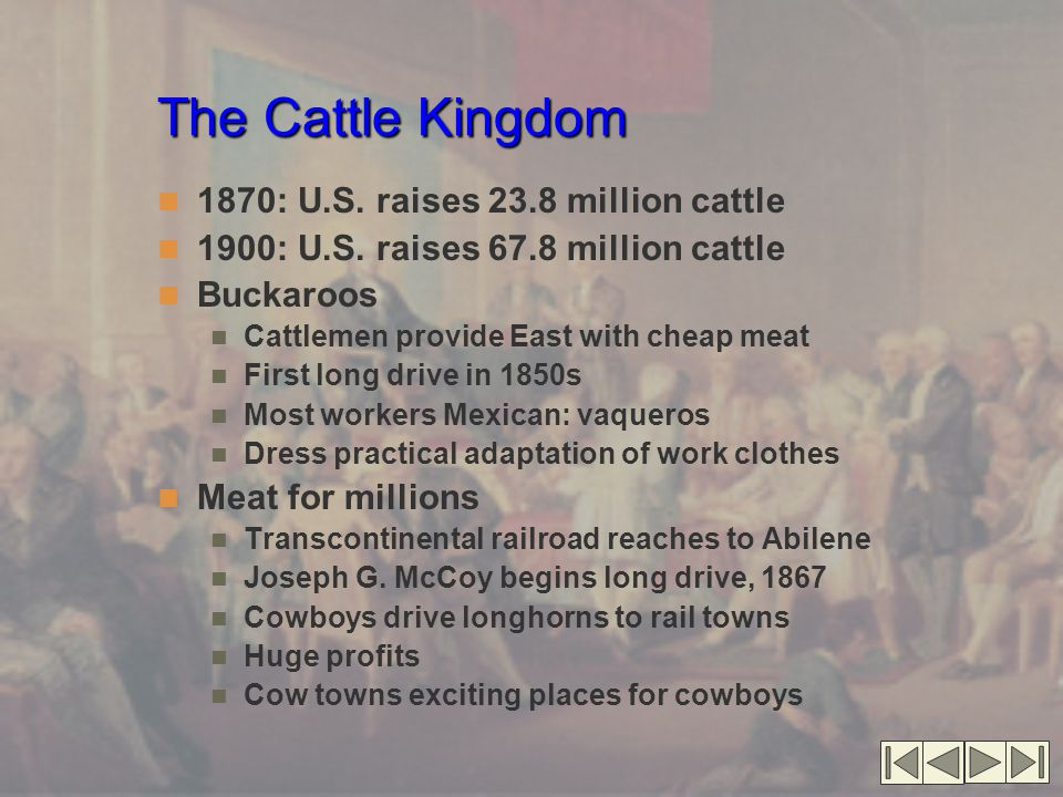 The Cattle Kingdom 1870: U.S. raises 23.8 million cattle
