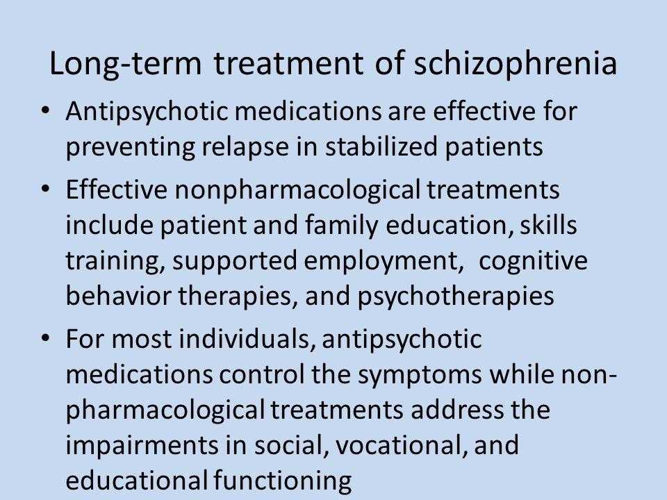 Long-term treatment of schizophrenia