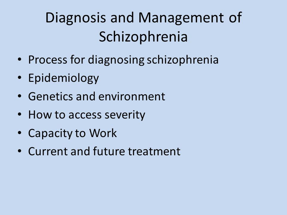outline clinical characteristics of schizophrenia
