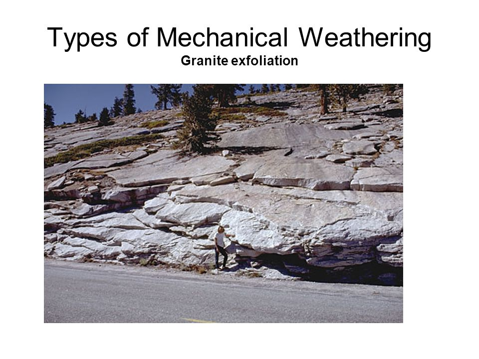 Types of Mechanical Weathering Granite exfoliation