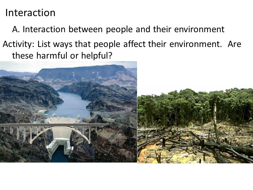 A. Interaction between people and their environment