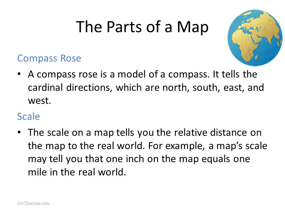 The Parts of a Map Compass Rose