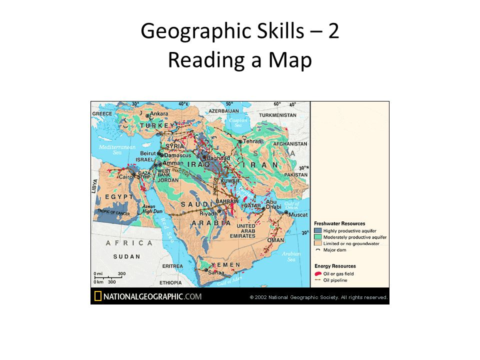 Geographic Skills – 2 Reading a Map