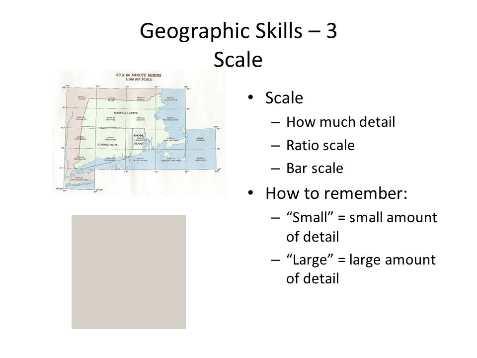 Geographic Skills – 3 Scale