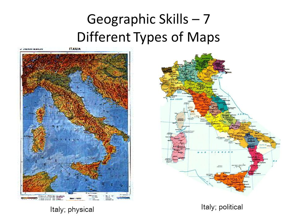 Geographic Skills – 7 Different Types of Maps