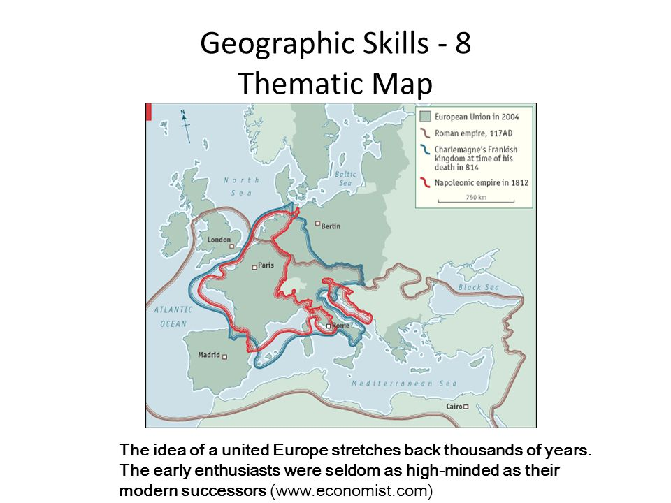 Geographic Skills - 8 Thematic Map