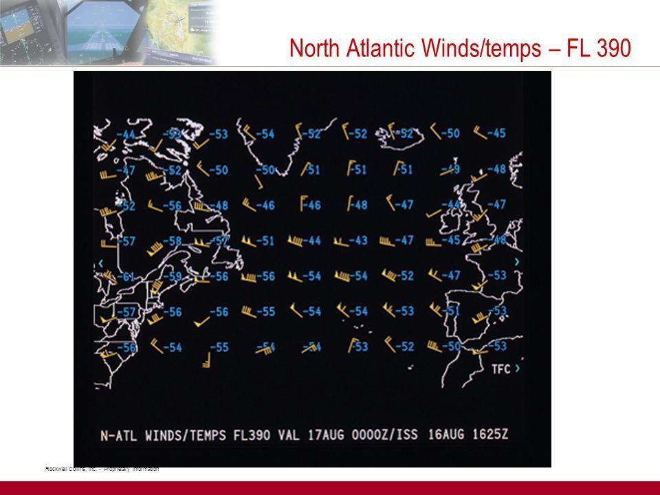 North Atlantic Winds/temps – FL 390