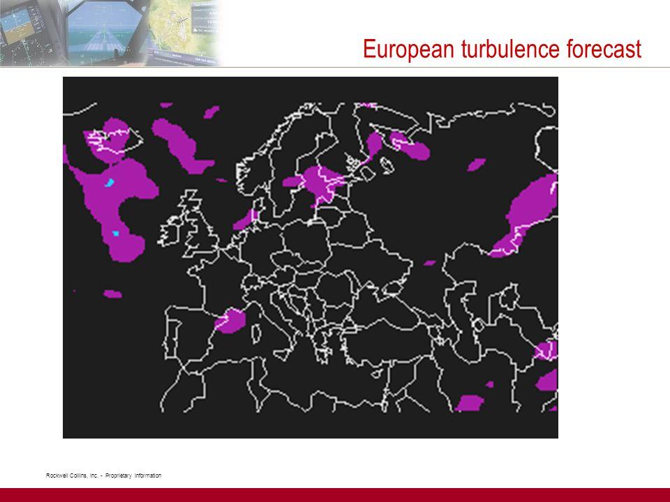 European turbulence forecast