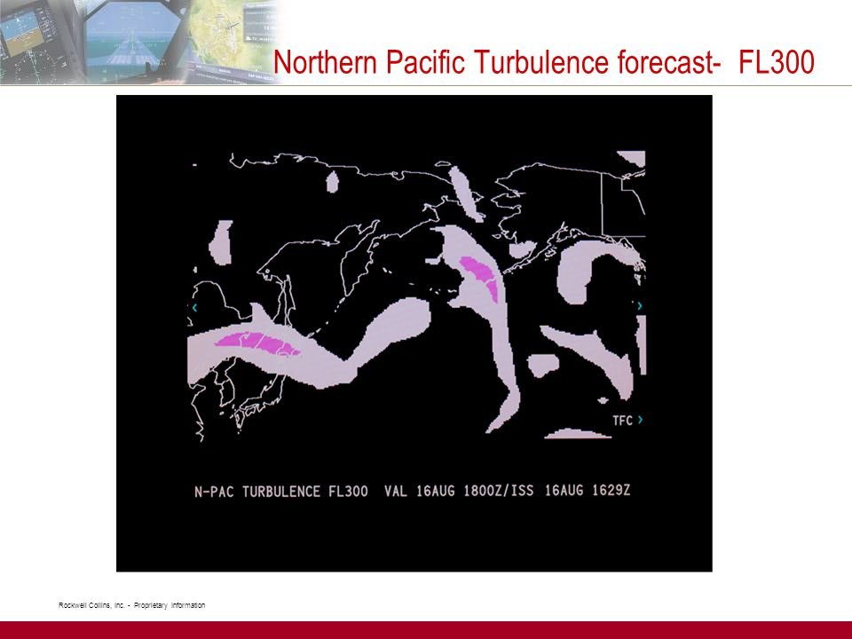 Northern Pacific Turbulence forecast- FL300