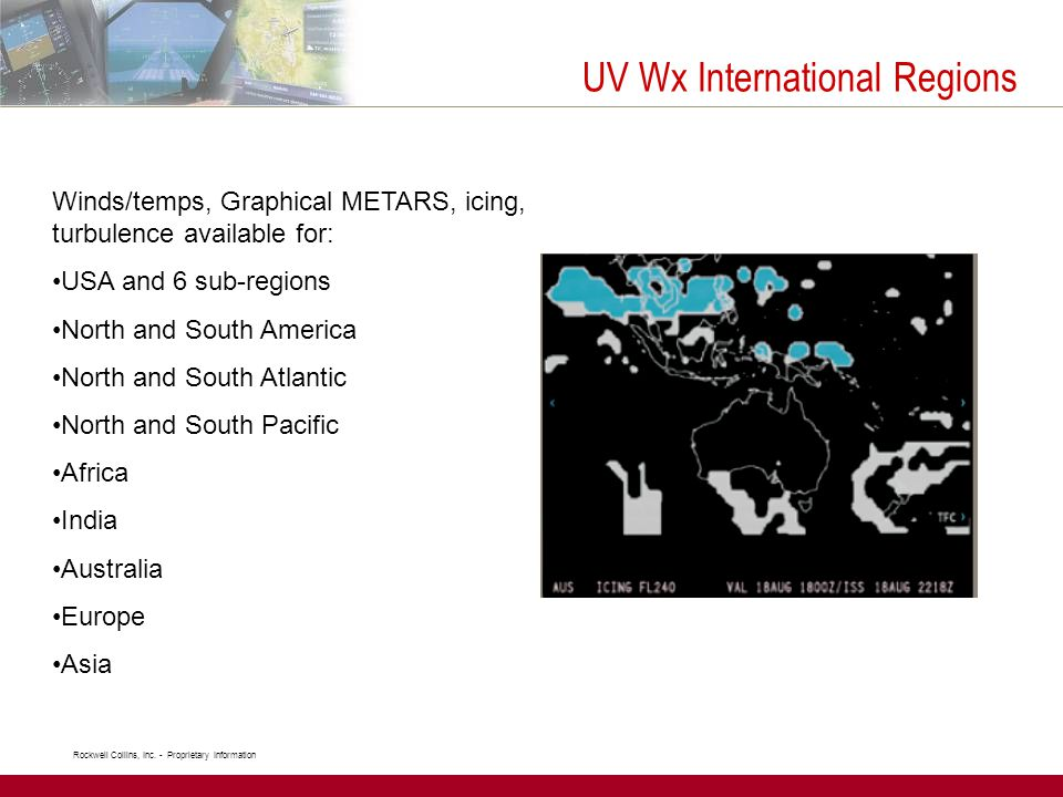 UV Wx International Regions