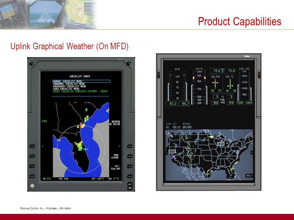 Product Capabilities Uplink Graphical Weather (On MFD)