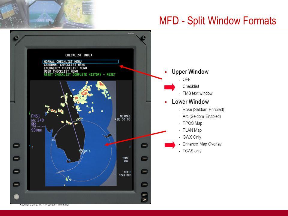 MFD - Split Window Formats