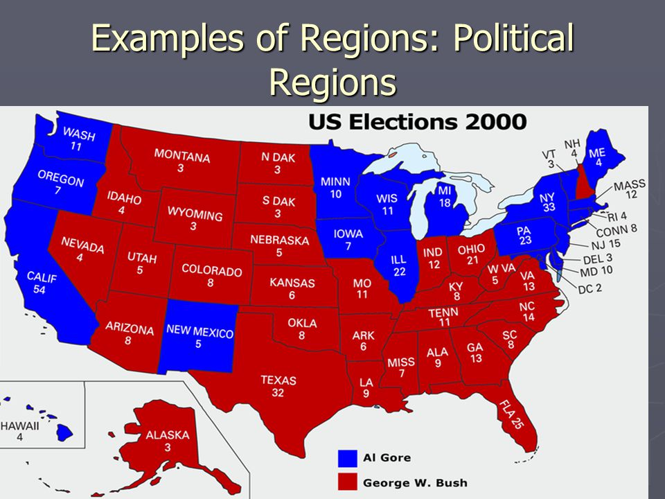 Examples of Regions: Political Regions