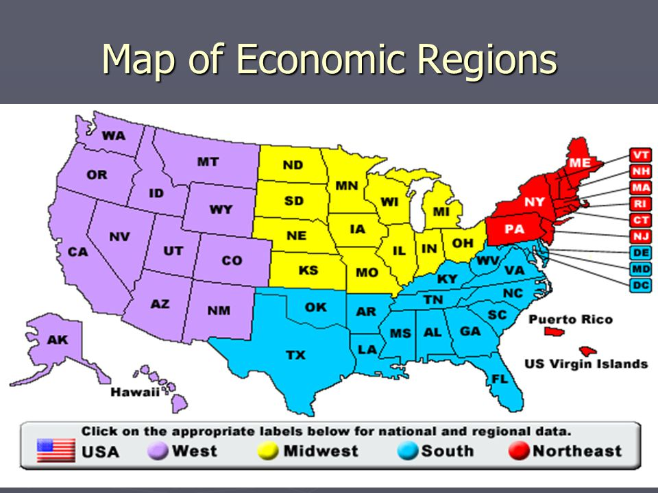 Map of Economic Regions