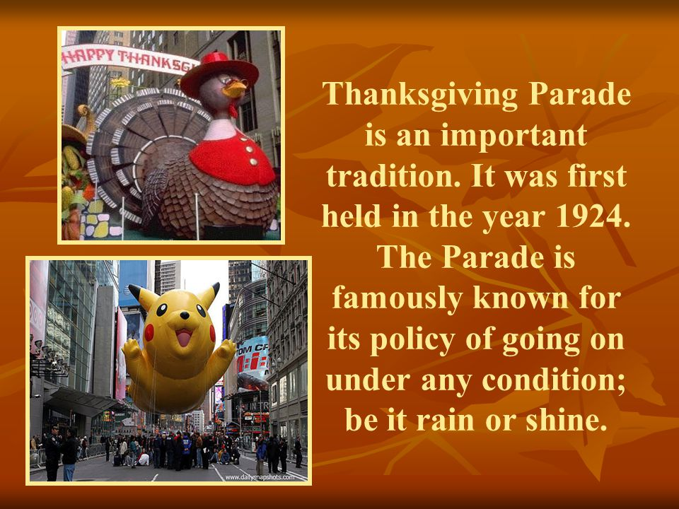 Thanksgiving Parade is an important tradition