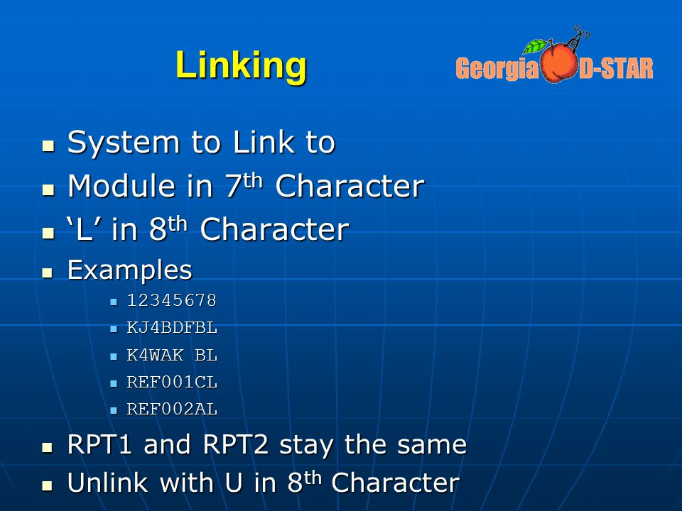Linking System to Link to Module in 7th Character 'L' in 8th Character