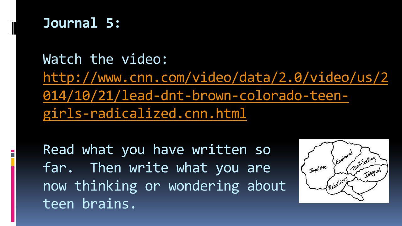 Journal 5: Watch the video: http://www. cnn. com/video/data/2