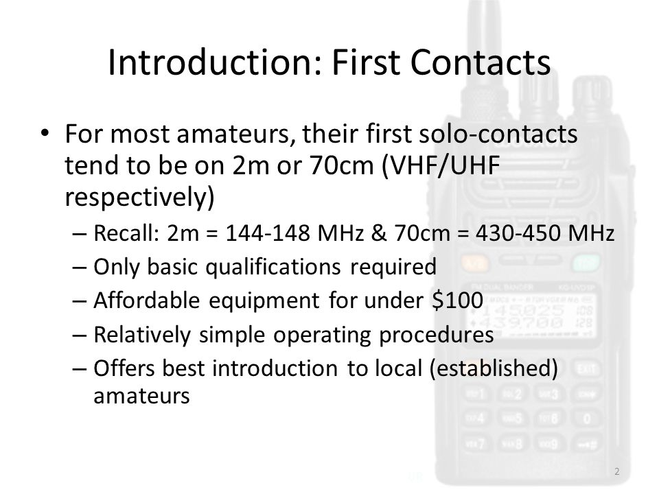 Introduction: First Contacts