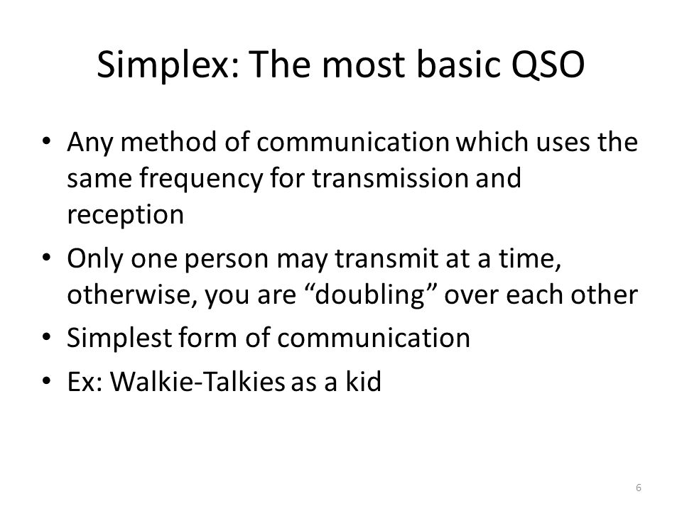 Simplex: The most basic QSO