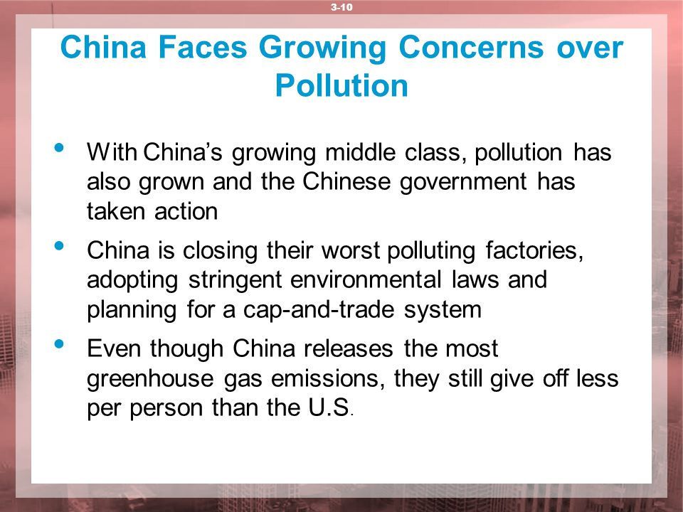 China Faces Growing Concerns over Pollution