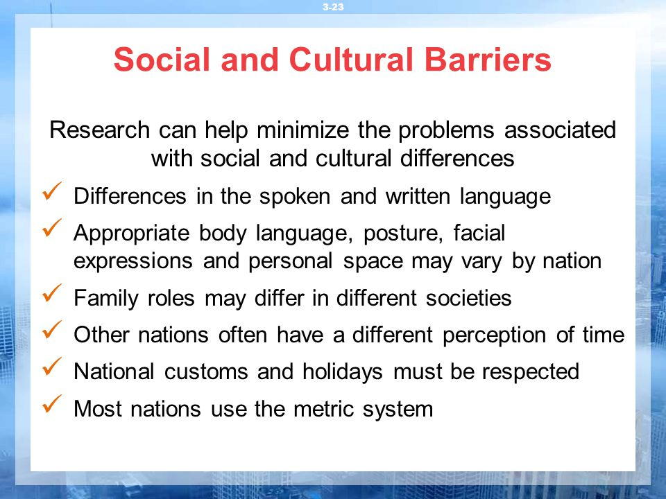 Social and Cultural Barriers