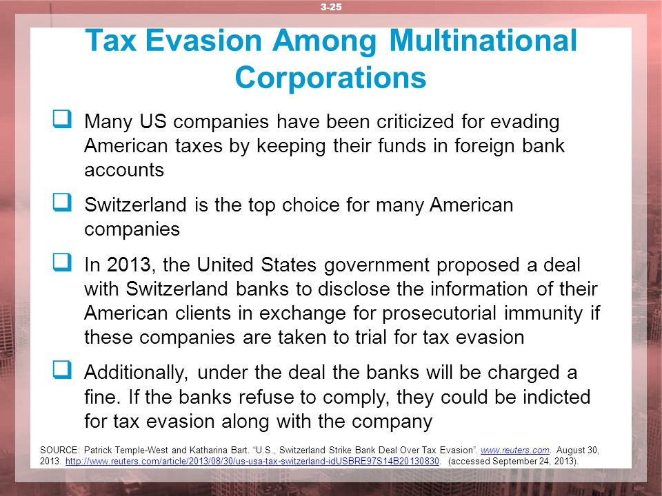 Tax Evasion Among Multinational Corporations