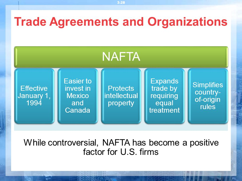 Trade Agreements and Organizations