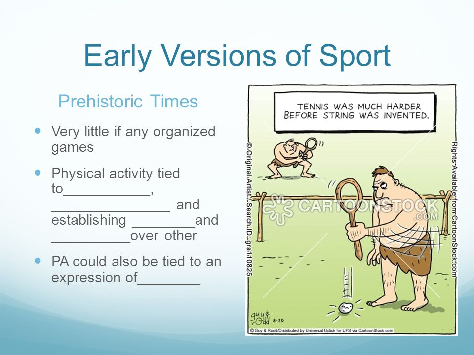 Early Versions of Sport