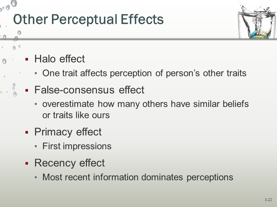 Other Perceptual Effects