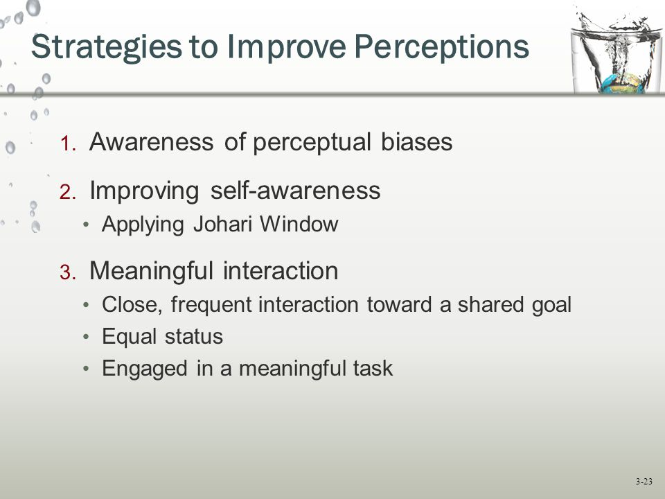 Strategies to Improve Perceptions
