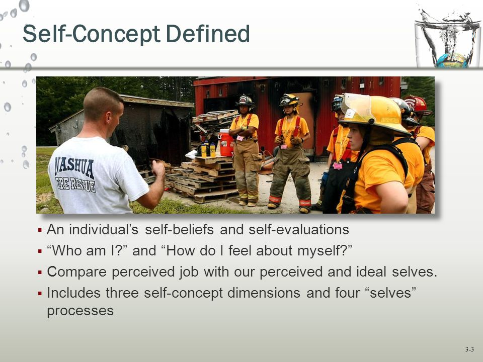 Self-Concept Defined An individual's self-beliefs and self-evaluations