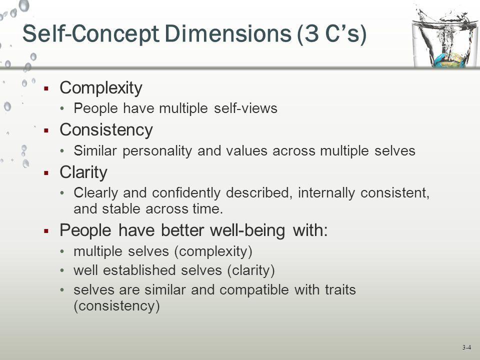 Self-Concept Dimensions (3 C's)
