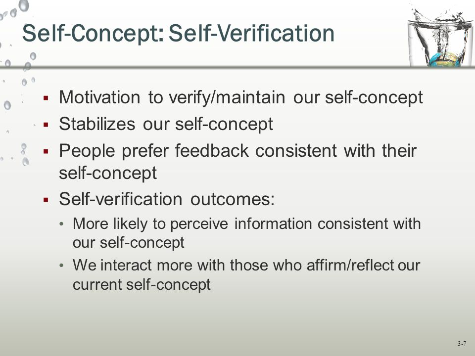 Self-Concept: Self-Verification