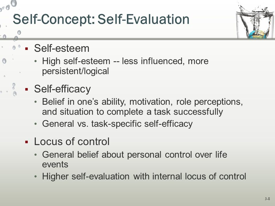Self-Concept: Self-Evaluation