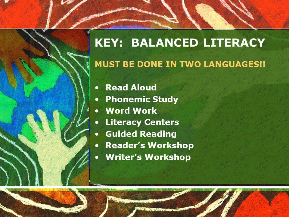 KEY: BALANCED LITERACY