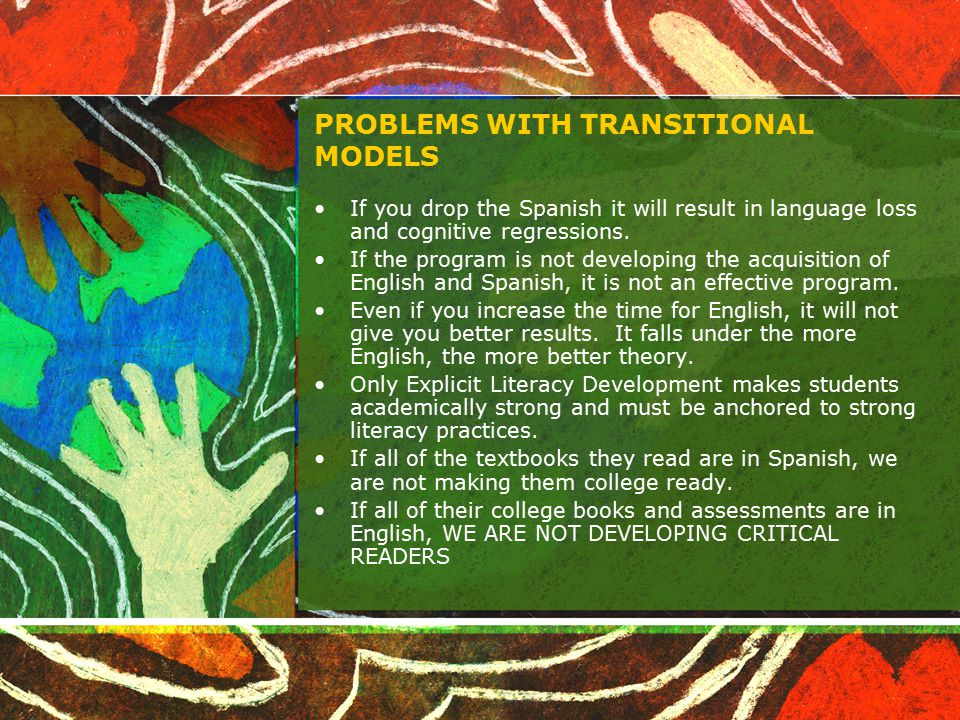 PROBLEMS WITH TRANSITIONAL MODELS