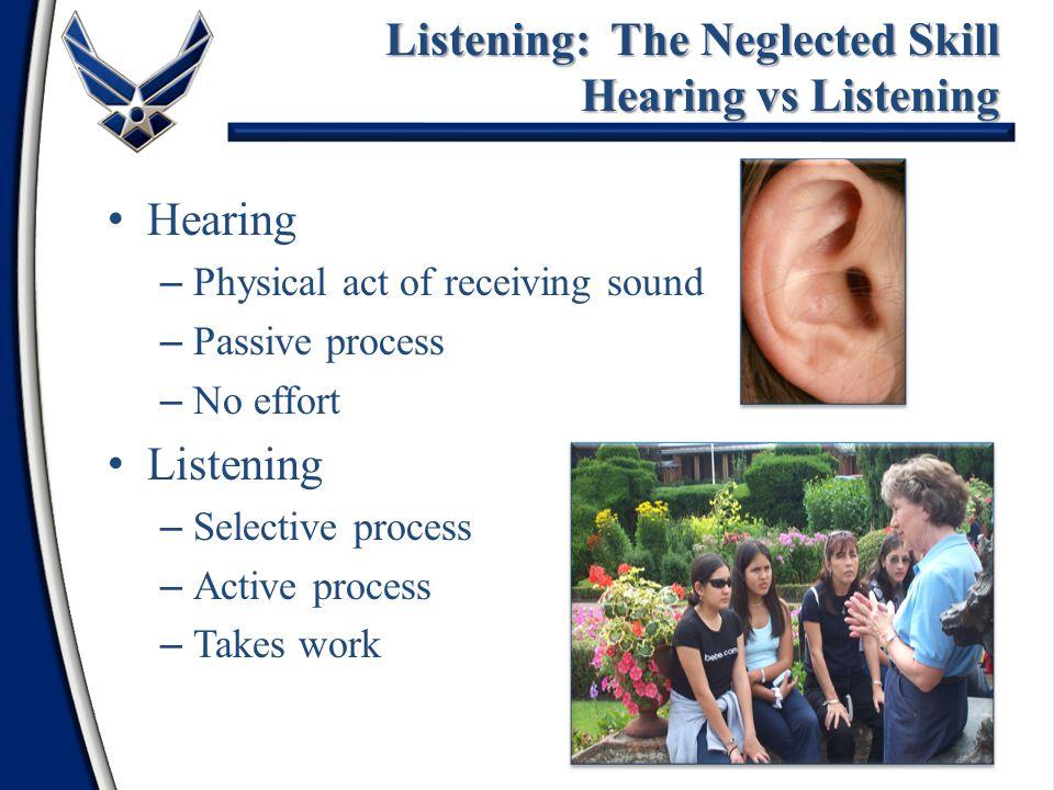 Listening: The Neglected Skill Hearing vs Listening