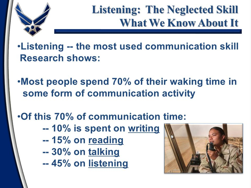 Listening: The Neglected Skill What We Know About It