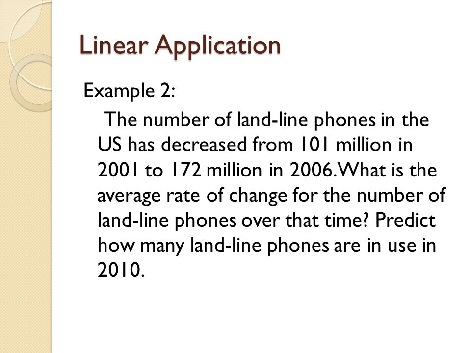 Linear Application