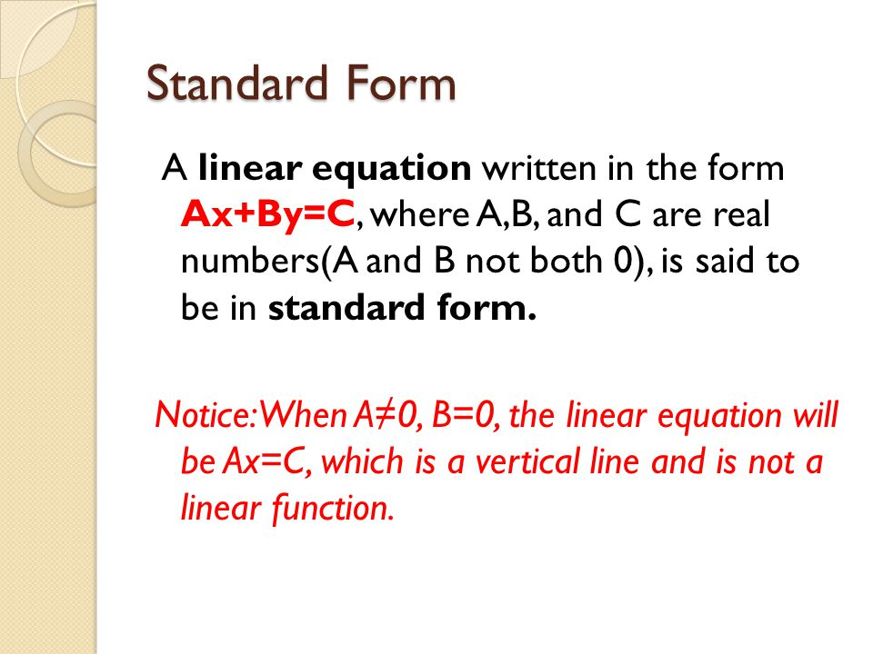 Standard Form