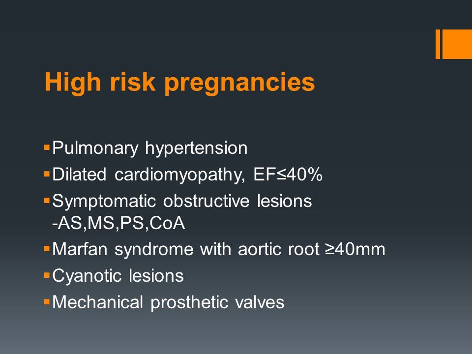 High risk pregnancies Pulmonary hypertension