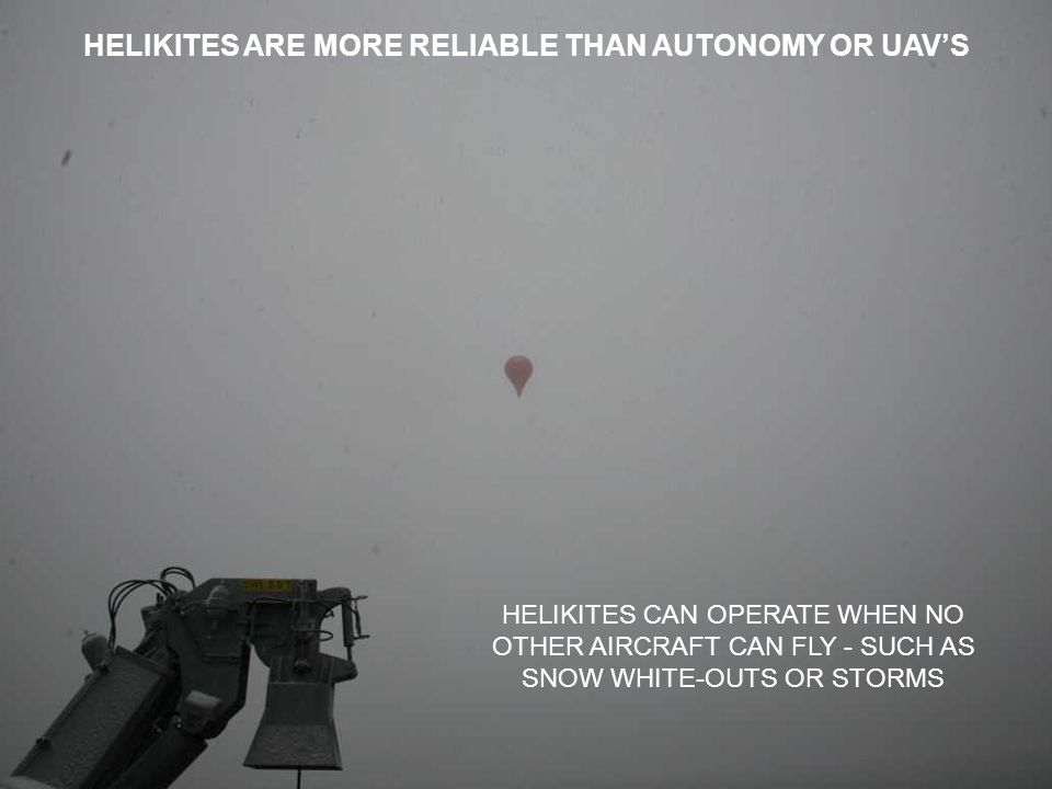 HELIKITES ARE MORE RELIABLE THAN AUTONOMY OR UAV'S