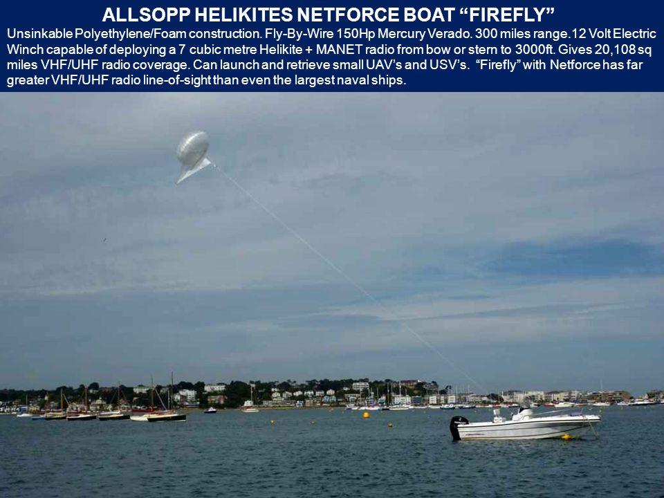 ALLSOPP HELIKITES NETFORCE BOAT FIREFLY Unsinkable Polyethylene/Foam construction.