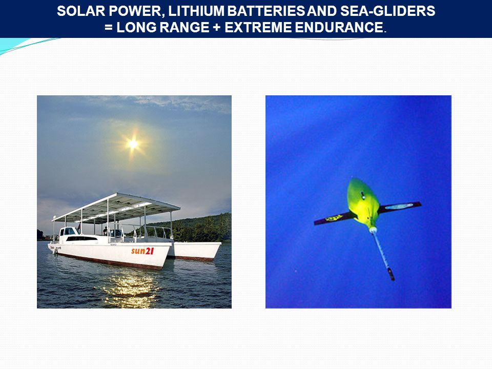 SOLAR POWER, LITHIUM BATTERIES AND SEA-GLIDERS = LONG RANGE + EXTREME ENDURANCE.
