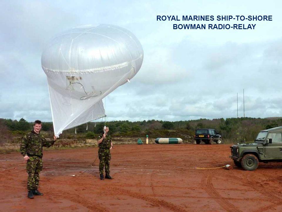 ROYAL MARINES SHIP-TO-SHORE BOWMAN RADIO-RELAY