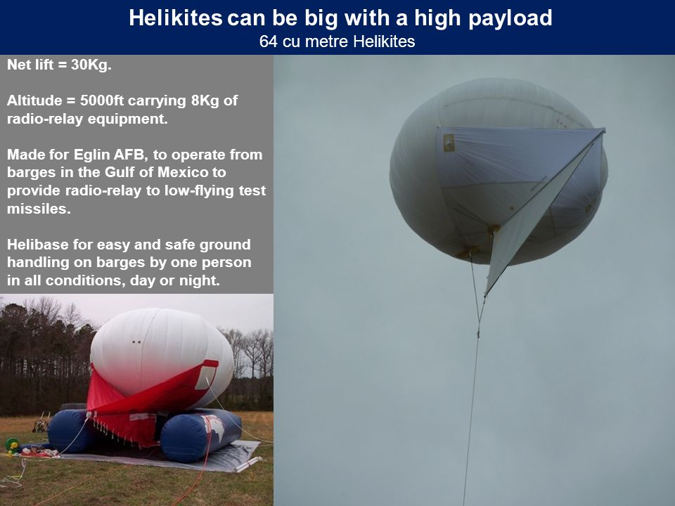 Helikites can be big with a high payload