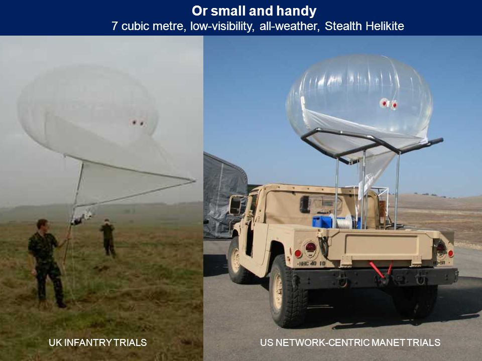 7 cubic metre, low-visibility, all-weather, Stealth Helikite