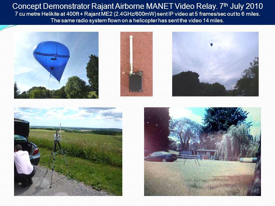 Concept Demonstrator Rajant Airborne MANET Video Relay